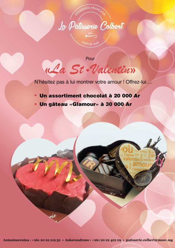 Offer a pastry for Valentine
